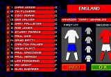 International Sensible Soccer Genesis An England squad of the time