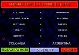 Championship Soccer '94 Genesis The Cup draw