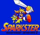 Sparkster Genesis Title screen