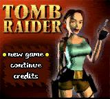 Tomb Raider Game Boy Color Title screen