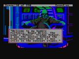 Space Quest II: Chapter II - Vohaul's Revenge DOS Sludge Vohaul introduces himself (CGA with composite monitor)