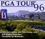 PGA Tour 96 SNES Title screen.