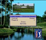 PGA Tour 96 SNES Main menu.
