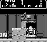 Disney's DuckTales Game Boy The Transylvania stage: now, a little Treasure Chest blocks Uncle Scrooge's way...