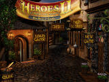 Heroes of Might and Magic II: The Price of Loyalty Windows Main menu.