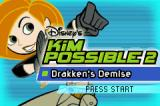 Kim Possible 2: Drakken's Demise Game Boy Advance Title screen.