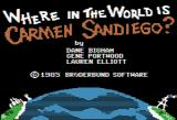 Where in the World is Carmen Sandiego? Apple II Title screen