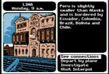 Where in the World is Carmen Sandiego? Apple II I'm beginning this game in Lima