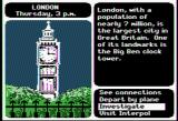 Where in the World is Carmen Sandiego? Apple II Investigating London