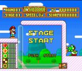 Yoshi's Cookie SNES Action Mode: Stage Start