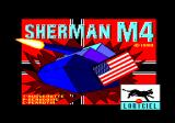 Sherman M4 Amstrad CPC Loading screen