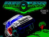 Rally Cross Challenge ZX Spectrum Loading screen