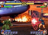 The King of Fighters '99: Millennium Battle Neo Geo Athena attacks Chin launching her Psycho Ball, but it is quickly annulled by Chin's DM Gouran Enpou.