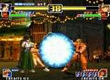 The King of Fighters '99: Millennium Battle Neo Geo Fearing a possible attack of Ryo, Kasumi calls Bao to help executing his DM Psycho Ball Attack: Max.