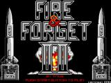 Fire & Forget II SEGA Master System Title screen