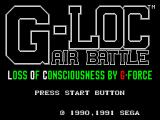 G-Loc Air Battle SEGA Master System Title screen