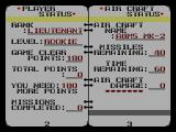 G-Loc Air Battle SEGA Master System Your log book
