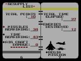 G-Loc Air Battle SEGA Master System The log book also serves as a menu; points buy you missiles and time