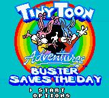 Tiny Toon Adventures: Buster Saves the Day Game Boy Color Game Start Menu