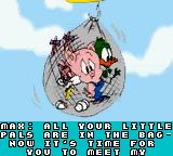 Tiny Toon Adventures: Buster Saves the Day Game Boy Color Intro:  Oh no!  Babs, Hamton and Plucky are captured!
