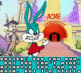 Tiny Toon Adventures: Buster Saves the Day Game Boy Color Intro:  Buster's all fired up to save his friends.