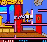 Tiny Toon Adventures: Buster Saves the Day Game Boy Color Pausing the game