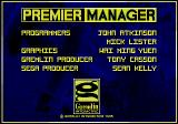 Premier Manager Genesis Unspectacular, solid title screen