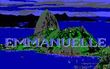 Emmanuelle: A Game of Eroticism DOS Title screen