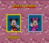The Great Circus Mystery starring Mickey & Minnie SNES Choose to play as Mickey or Minnie