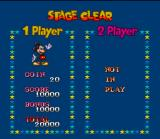 The Great Circus Mystery starring Mickey & Minnie SNES When you clear a stage you will get a break down of how you did