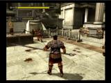 Shadow of Rome PlayStation 2 Agrippa fighting two roman soldiers to stop the execution.