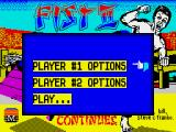Fist: The Legend Continues ZX Spectrum Main menu