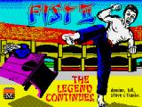 Fist: The Legend Continues ZX Spectrum Loading screen