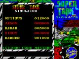 Super Tank Simulator ZX Spectrum High scores