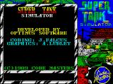 Super Tank Simulator ZX Spectrum Partial credits