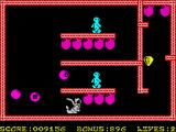 Bomber Bob In Pentagon Capers ZX Spectrum Starting in the 2nd set of rooms