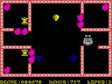 Bomber Bob In Pentagon Capers ZX Spectrum So many diamonds to collect here