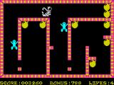 Bomber Bob In Pentagon Capers ZX Spectrum Quite easy room with well known robots