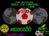World Cup Carnival ZX Spectrum Title screen