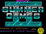 Gold, Silver, Bronze ZX Spectrum Summer Games 2 loading screen