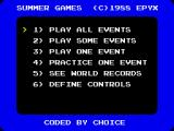 Gold, Silver, Bronze ZX Spectrum Event selection