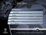 UEFA Champions League Season 1999/2000 Windows Main menu