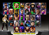 Mortal Kombat Trilogy Windows Character selection screen.