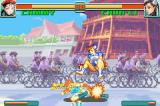 Super Street Fighter II: Turbo Revival Game Boy Advance Cammy dropping Chun-Li with the single hit of her Razor Edge Slicer.
