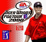 Tiger Woods PGA Tour 2000 Game Boy Color Title screen.