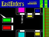 EastEnders ZX Spectrum Albert square is the hub of the game and walking into the coloured squares takes you to different places