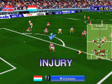 Sega Worldwide Soccer '97 Windows A rather nasty tackle results in injury