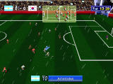 Sega Worldwide Soccer '97 Windows The view can be pushed farther to show more of the field