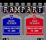 Rampart SNES Title screen