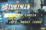 Stuntman Game Boy Advance Title screen / Main menu.